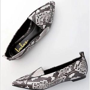 Lulus snake skin loafers